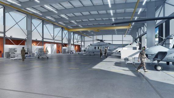 Infrastructure accueil hélicoptères NH90 Pau Uzein